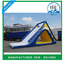 Hot sale lake inflatable water slides, inflatable water slide for kids and adults