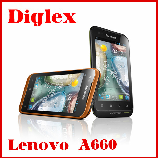 52 LANGUAGE Original Lenovo A660 Phone Tri-Proof Phone MTK6577 Dual Core Android