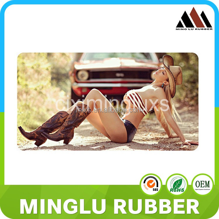 Hot sexy overlock rubber 3d adult movie cartoon game mouse pad