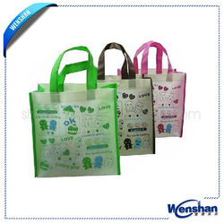 pp woven laminated shopping bag wholesale