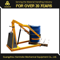 Guanzhou hanmoke brand oil drum handling equipment 300kg capacity 2090 pouring height power drum lifter drum tilting equipment