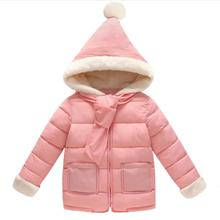 sh20023a faux-fur hooded children girls winter coat baby kids overcoat padded down coats