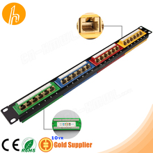 110 24 port Cat5e Angled Patch Panel