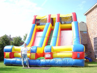 china manufacturer guanzhou large commercial grade inflatables super high slide inflatable two lane dry slides for sale