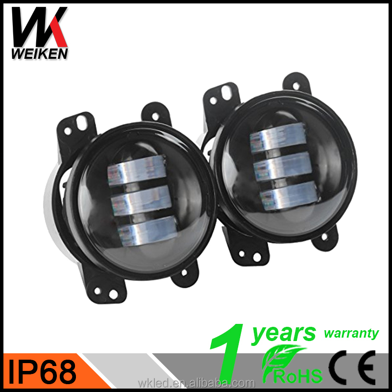 2x 4inch 30W Pedestal Mount LED Fog Lights 6500k 1300LM Offroad Work Lights For 12v 24v 4x4 4WD SUV ATV RZV UTV Trucks