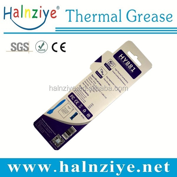 new product HY881 super high thermal conductivity 5.6w/m-k thermal paste&compound&grease blister card 2g for liquid cooling