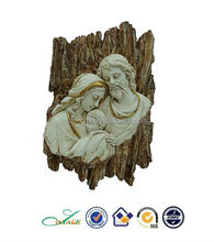 Resin 2D religious holy family table decoration