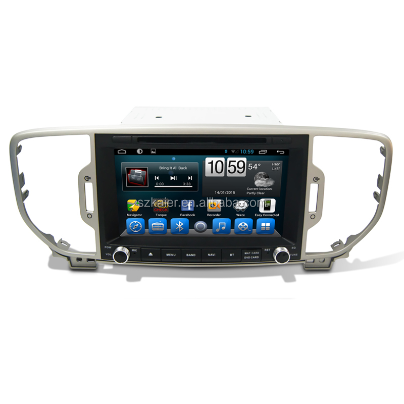 OEM Android 6.0 Manufacturer 2 Din Car DVD Player Radio for Kia New Sportage 2015 2016 Silver Grey with SD card Map