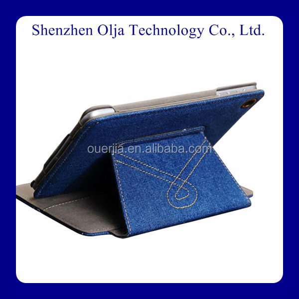 western cowboy leather case for the new ipad , high quality tablet pc leather case