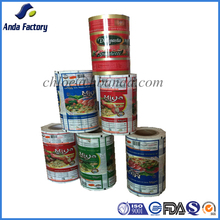 Flow Packing Plastic Food Packaging Film/Printed Plastic Packaging Film Roll