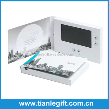 Factory supply competitive price 4.3 Inches video wedding cards invitation