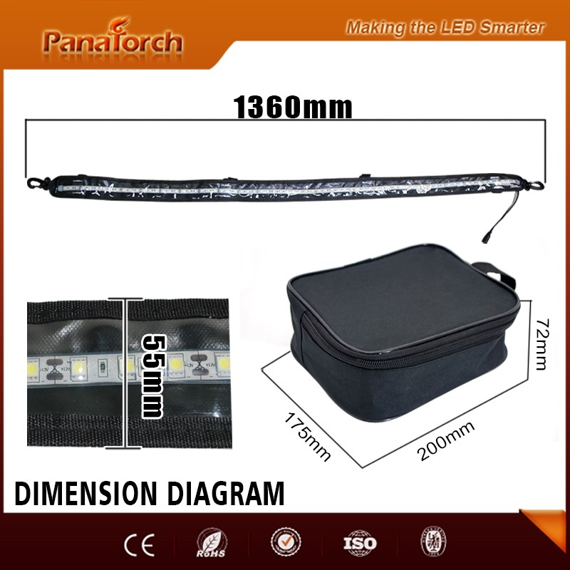 PanaTorch 1200mm Cool White led strip light kit PS-F3572A touch switch dimmer for truck and boat