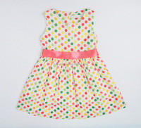 polka dot print cotton girls dresses age 10