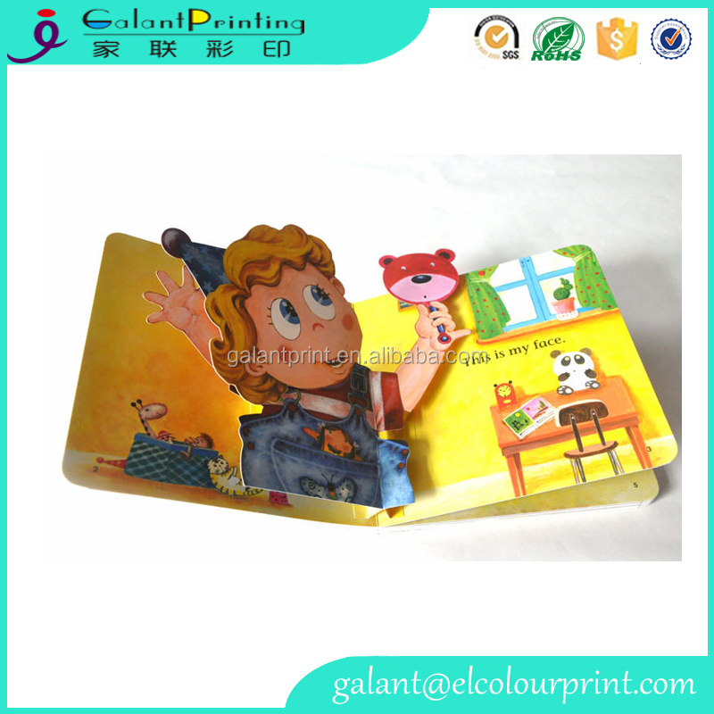 Best custom 3d pop up picture english beginner reading story samll book printing for children