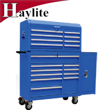 stainless steel tool master chest & cabinet with bamboo top