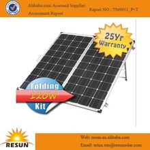 venta caliente plegable 120w precio del panel solar del panel solar de fabricantes en china