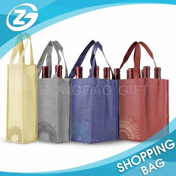 Custom Cheap Promotional Eco Non Woven Beer Bottle Bag
