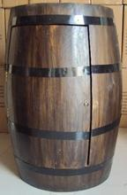 hot selling natural solid oak wood barrel with holder and moving cover and metal rings
