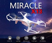 RC helicopter Control Toys Syma X13 MIRACLE GYRO 2.4G 4CH 6-Axis Mini RC Helicopter & Quadcopter Quad Copter RTF
