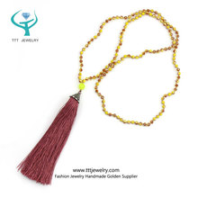 Crystal Tassel Necklace China Distributor