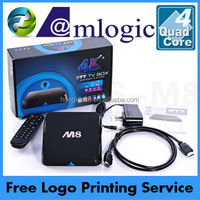 M8 Amlogic s802 Quad Core android tv box webcam with skype