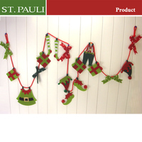 christms home fireplace wall hanging felt handmade decoration