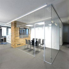 Guangzhou office cubicles movable sliding glass block partition wall