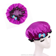 China zhejiang supply baby shower cap with flower
