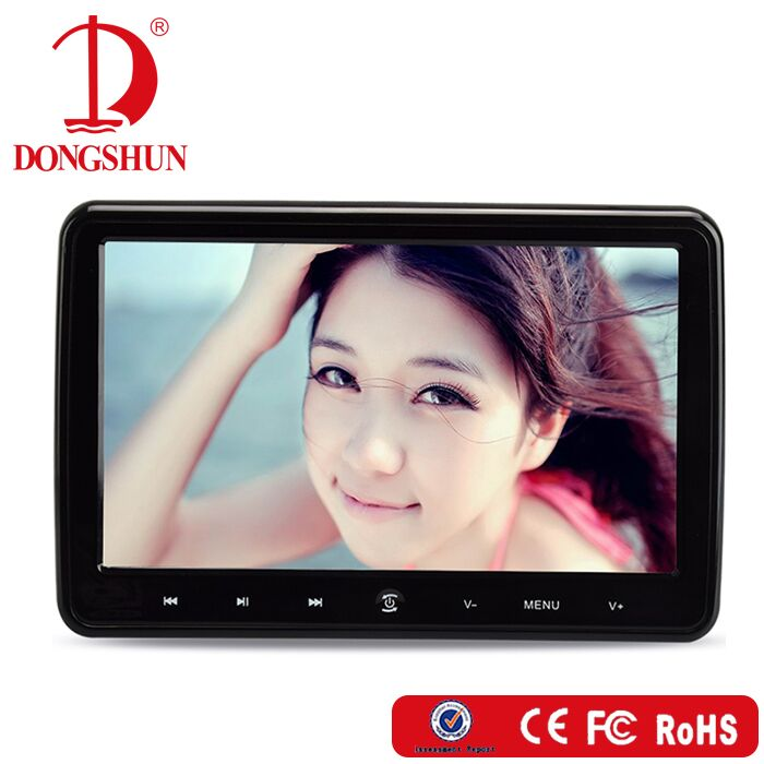 CE /FCC 10.1''portable car video headrest dvd players with hdmi input