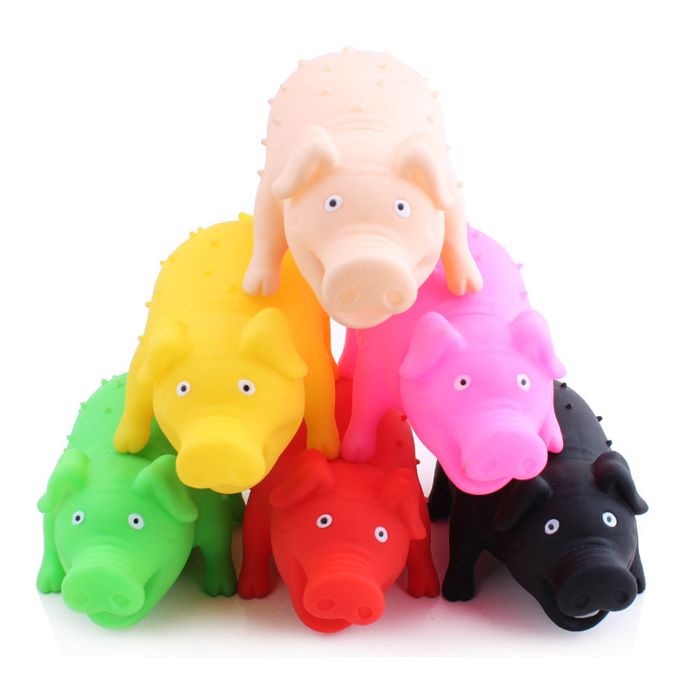 Rubber Pig Dog Toy