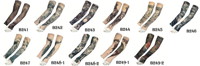 KaPin fashion tattoo printed cool lycra compression arm sleeve for fitness sports