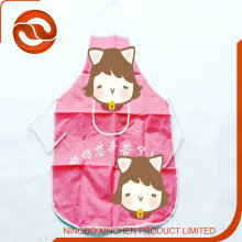 wholesale waterproof pvc kid apron / pvc coating aporn