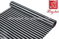 printed new black and white stripe gift wrapping paper