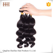 Fast shipping factory price natural black stock 27 piece human hair weave