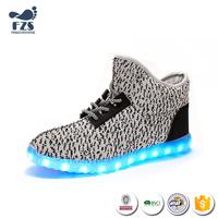 HFS-X-198 man shoe yeezy 350 led light up shoes men sport
