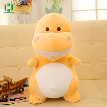 40cm custom plush dinosaur king green toys with embroidery logo
