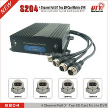 sd card portable dvr digital video recorder,bus 4 channel car dvr, S204G
