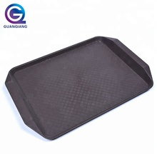 Hot Selling Antislip Rectangle Cheap Plastic PP Serving Tray with Handle