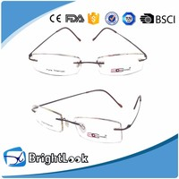 No Moq 100% Pure Titanium New Style Reading Glasses