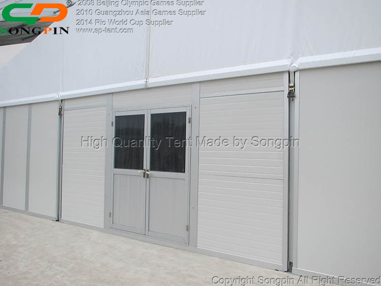 15x50m large aluminum frame marquee storage tent with waterproof fabric for outdoor mobile warehouse