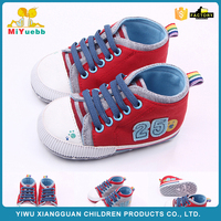 Latest trendy style colorful canvas baby shoes