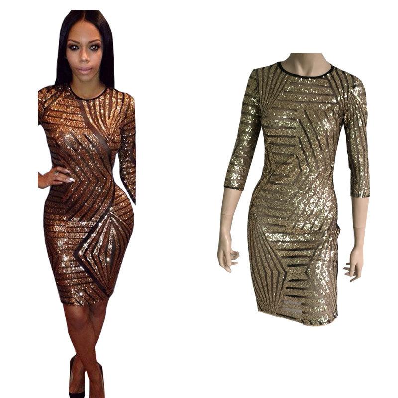 Get Quotations · New Roupas Femininos Plus Size Dress Women Sexy Sizzling  Black Sequin Bodycon Party Dress Vestido De 69482c553e31