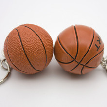 Custom soft silicone rubber key chain sprots key ring basketball keychain