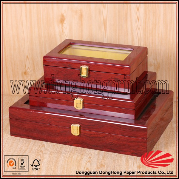 Decorative jewelry custom small wooden gift boxes