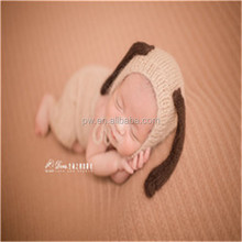Newborn knit romper Crochet mohair baby bonnet hooded romper overall onseie Newborn photography props Newborn outfit jumpsuit