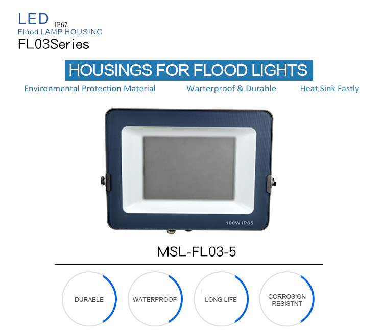 Sports Stadium 30W 50W 100W 150W outdoor led flood light 100w housing for baseball field