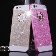 High quality luxury glitter crystal rhinestone bling diamond young girls mobile phone case for iphone