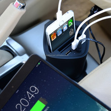 2016 new arrival smart 3 port usb cup holder car charger for sale