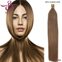 "5A Grade Quality 18"" Indian remy Keratin stick I tip hair grey Natural hair extension 100s 50g/pk Stock 6 Color optional"
