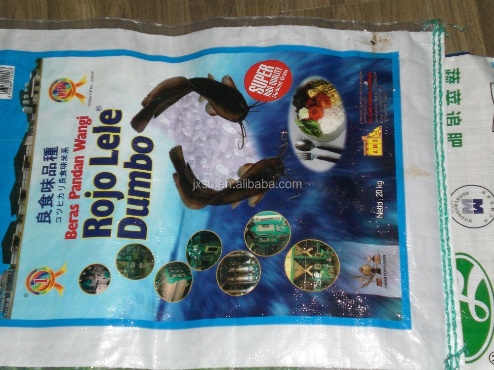pp woven bags/sacks for 25 kg rice bags
